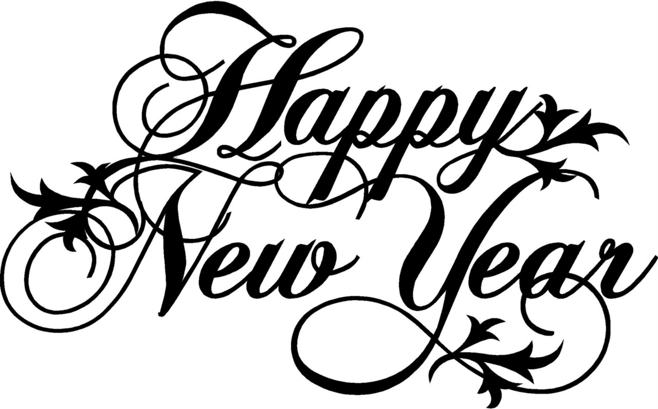 Happy New Year Wall Lettering Stickers Vinyl Word Decal