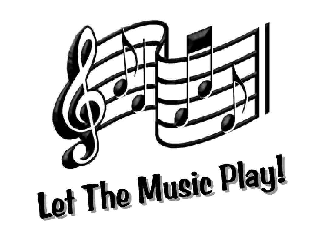 Custom Made T Shirt Let The Music Play Musical Notes