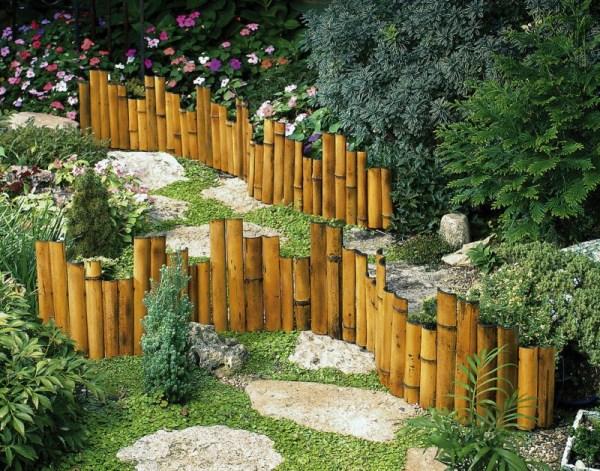 genuine bamboo garden border