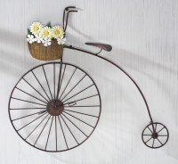 Old Fashioned Iron Penny Farthing Bicycle Metal Wall Art