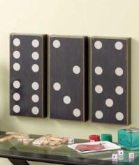 3 Pc Dominoes Wall Art Set Black & White Game Room Decor ...