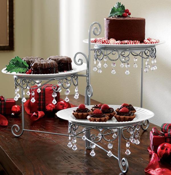 3 Tier Chandelier Buffet Display Stand Dessert Cake Plate