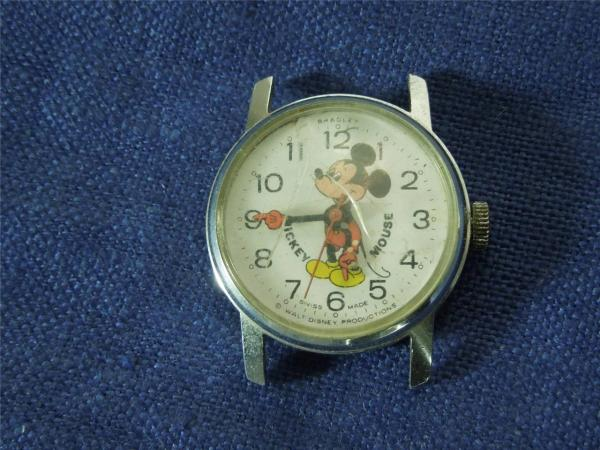 Vintage Mickey Mouse Watch Bradley Swiss Made