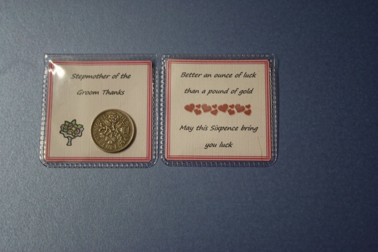 Unique LUCKY SIXPENCE Wedding THANK YOU Gift For FEMALE