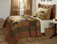 7PC STRATTON COUNTRY PRIMITIVE STAR QUILT SHAMS SKIRT ...