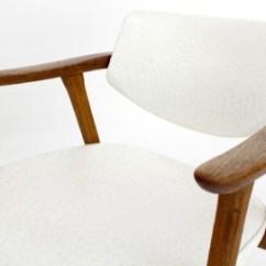 Mid Century Barrel Dining Chair Upholstered Computer Modern Teak Back Chairs Wegner Style On