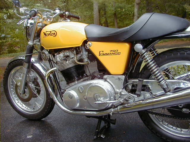 Yellow Norton 750