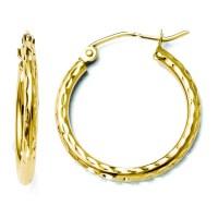 Leslies 14K Yellow Gold 3.15mm Diamond Cut Round Tube ...