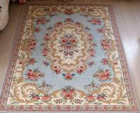 French Country Victorian Traditional Classic Floral Blue ...