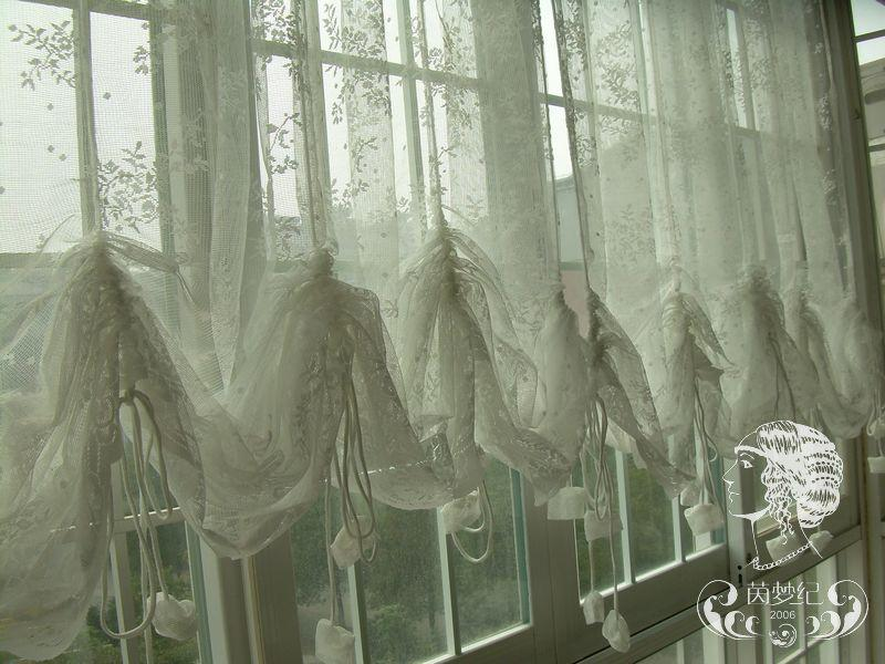 French Country Lace Austrian Balloon Shade Sheer Voile Cafe Kitchen Curtain J EBay