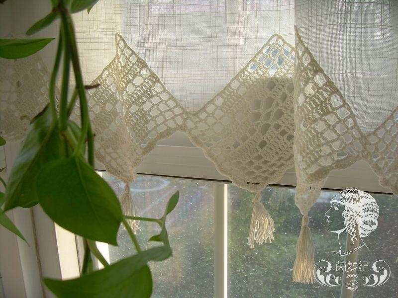 Set Of French Country Lace Crochet Cafe Kitchen Curtain With Valance 013  eBay