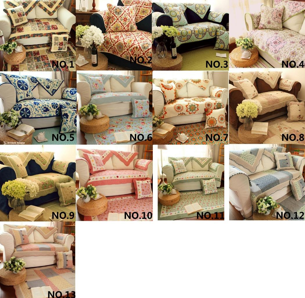 quilted embroidery sectional sofa couch slipcovers furniture protector cotton tesco sofia bed country floral