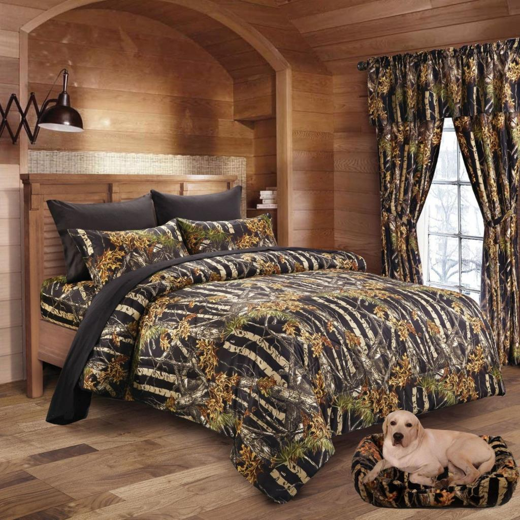 Twin Queen King Camo 13pc Comforter Bed Set Camouflage