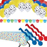 Paw Dog Party Decorations: Table Cover, Banner, Balloons ...