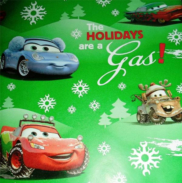 Disney Cars Christmas Wrapping Paper
