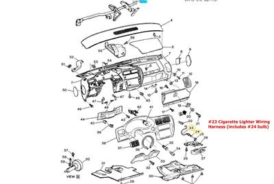 GM OEM ACDelco 12144599 Cigarette Lighter Ashtray Wiring