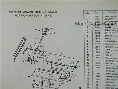 Original Simplicity Wonder-Boy Riding Mower Attachments