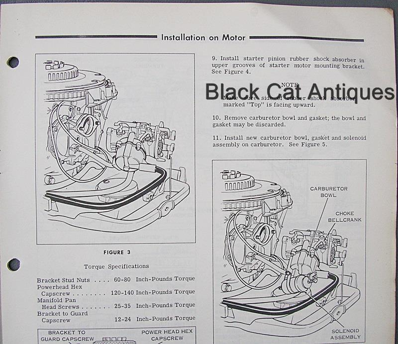 OMC Outboard Marine Corp Owner's Manual Electric Starting