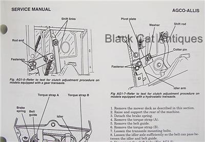 Original Clymer Riding Lawn Mower Service Manual 1st