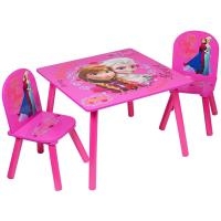 DISNEY FROZEN PINK SET OF 2 CHAIRS & TABLE FURNITURE SET ...