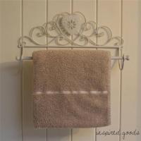 Vintage Metal Heart Towel Rail - Shabby Chic Bathroom ...