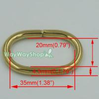 Solid Brass Loop Oval Ring Rings Leather 4 Purse Bag ...