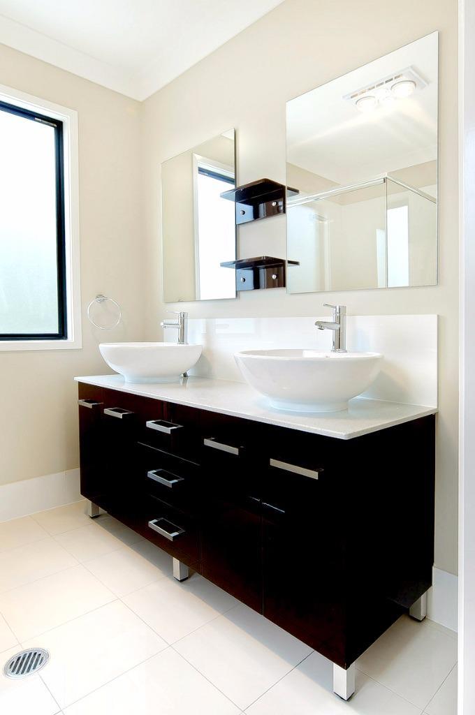 New Bathroom Vanity 1500 Cabinet Unit STONE TOP 2x Basin