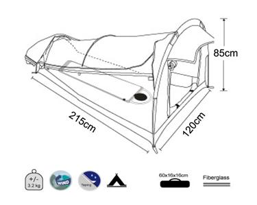 Oz Wild Rivers KING Single SWAG camping equipment gear