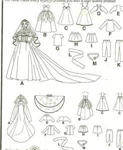 DOLL CLOTHES BARBIE KATES FAIRYTALE ROYAL WEDDING DRESS 13