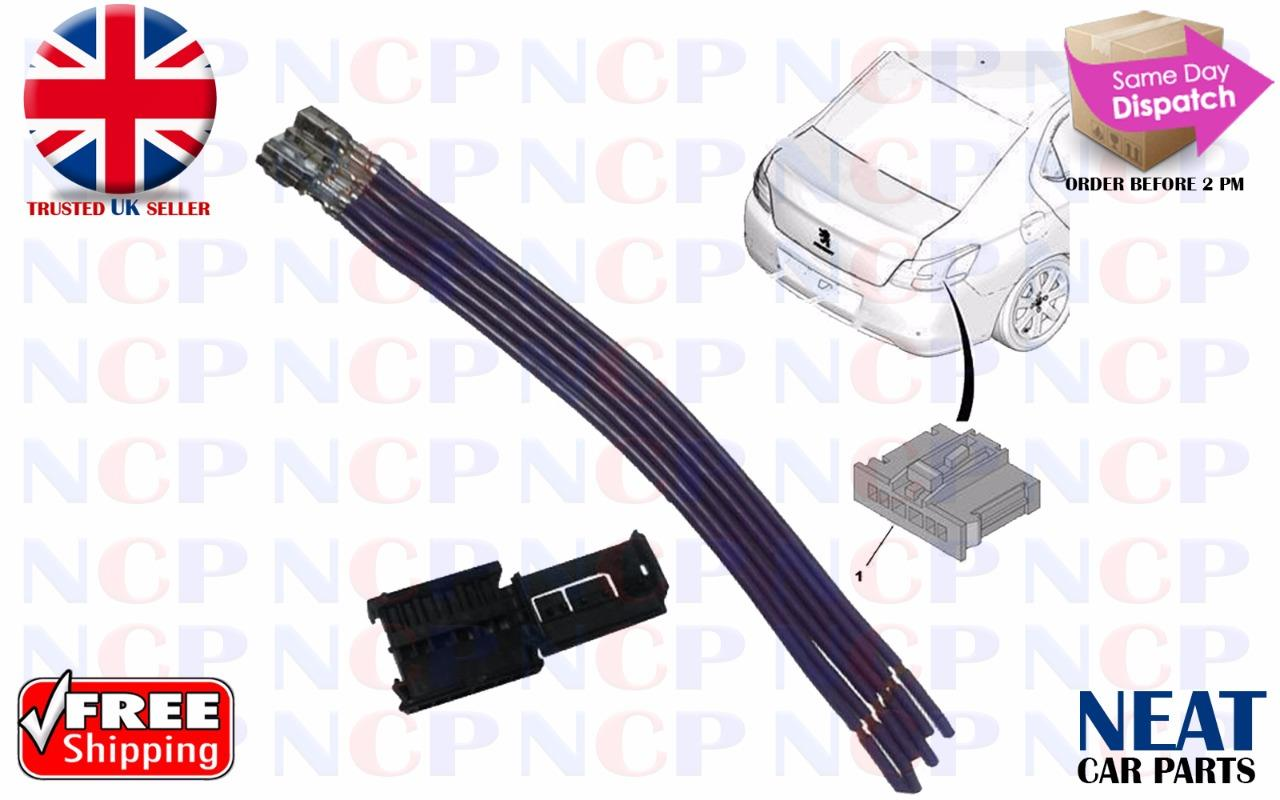 hight resolution of peugeot 307 308 508 1007 rear tail light lamp wiring 6 pin connector repair kit