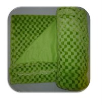 NEW LIME GREEN CHECK MINK BLANKET THROW FAUX FUR FLEECE | eBay