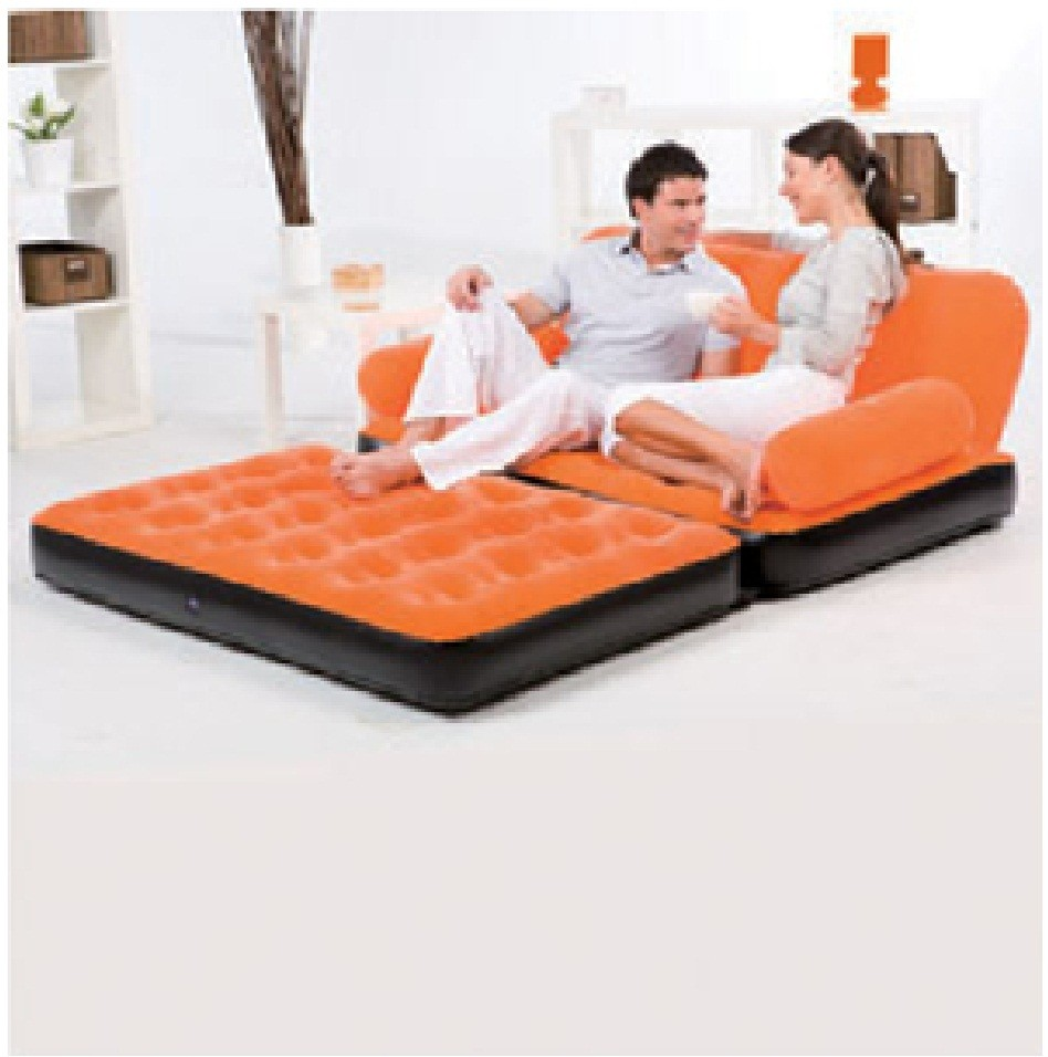 bestway inflatable air sofa couch bed best leather cleaner and conditioner reviews multi functional airbed chair ...