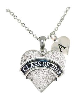 Custom Class of 2018 Graduation Gift Silver Necklace