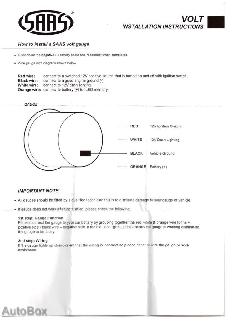 saas oil pressure gauge wiring diagram 1999 mitsubishi galant stereo ba bf falcon pod holder and white volts xr6 xr8   ebay