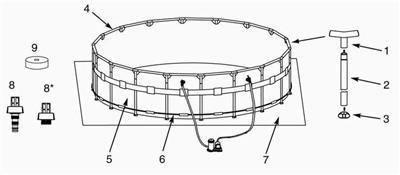 Intex Above Ground Ultra Metal Frame Pool Vertical Leg