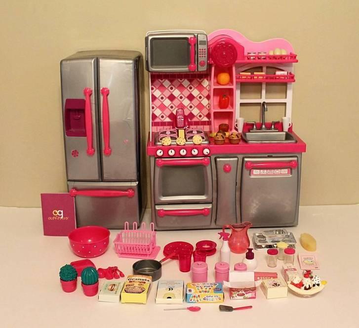 Details Our Generation Kitchen Set Complete Accessories Euc