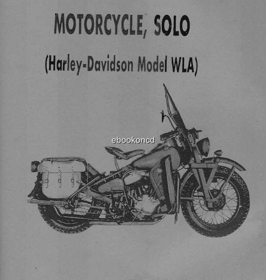 2 Harley Davidson WLA 1943 Military Riders History Manual
