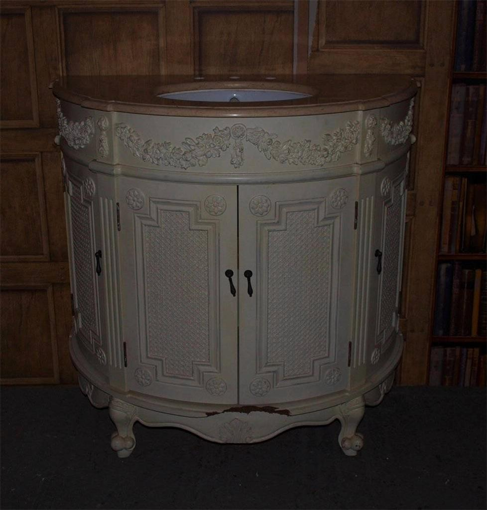 French Style Vanity Sink Unit with Marble Top  Bathroom Bedroom  RRP 749  eBay