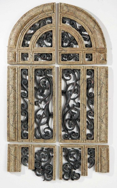 XL Old World CATHEDRAL RUINS ARCHED WALL DECOR Set/6