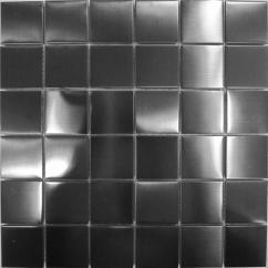 Metallic Kitchen Wall Tiles Remodel San Diego Stainless Steel Mosaic Black Brushed