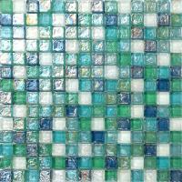 1 SQ M Blue Green Aqua Hammered Swirl Glass Bathroom ...