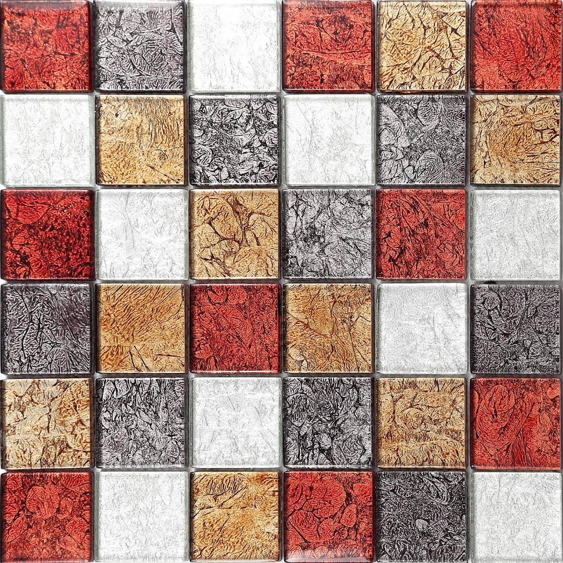 metallic kitchen wall tiles art van tables glass mosaic moasaics foil hong kong mix tile