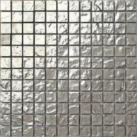 Silver Glass Mosaic Wall Tiles Textured Bathroom Shower ...