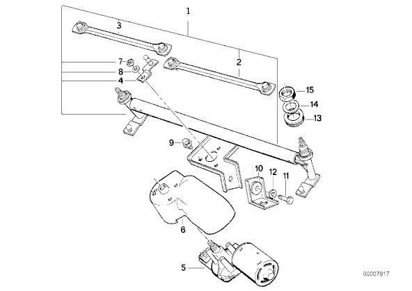 2 Pieces BMW E32 E34 E36 Z1 Wind Shield Wiper Shaft Seal