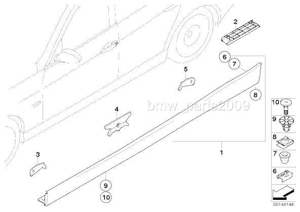 12 pieces BMW E36 E46 E90 E91 Side Skirt / Rocker Panel