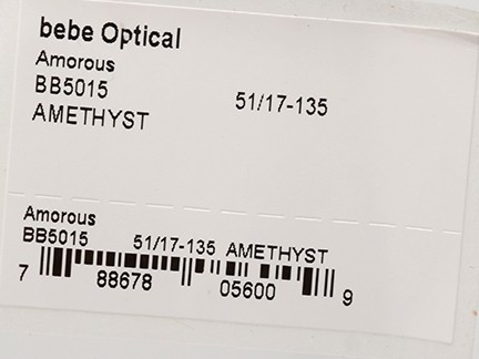BEBE AMOROUS 5015 AMETHYST S.51 RX GLASSES AUTHENTIC