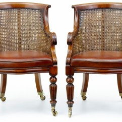 Bergere Chairs Countertop Tables And Pair Of Mahogany Library Ebay