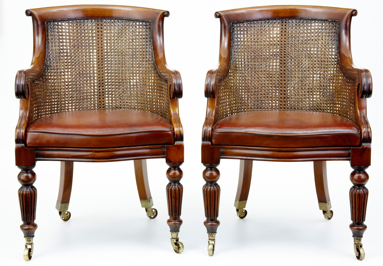 bergere chairs bathing chair for elderly pair of mahogany library ebay