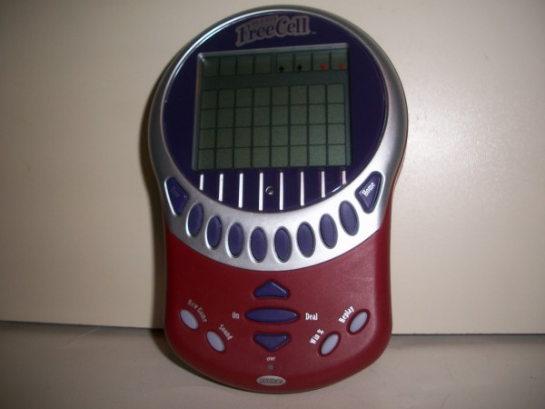 Handheld Game -solitaire-big Screen - Free Cell- Radica