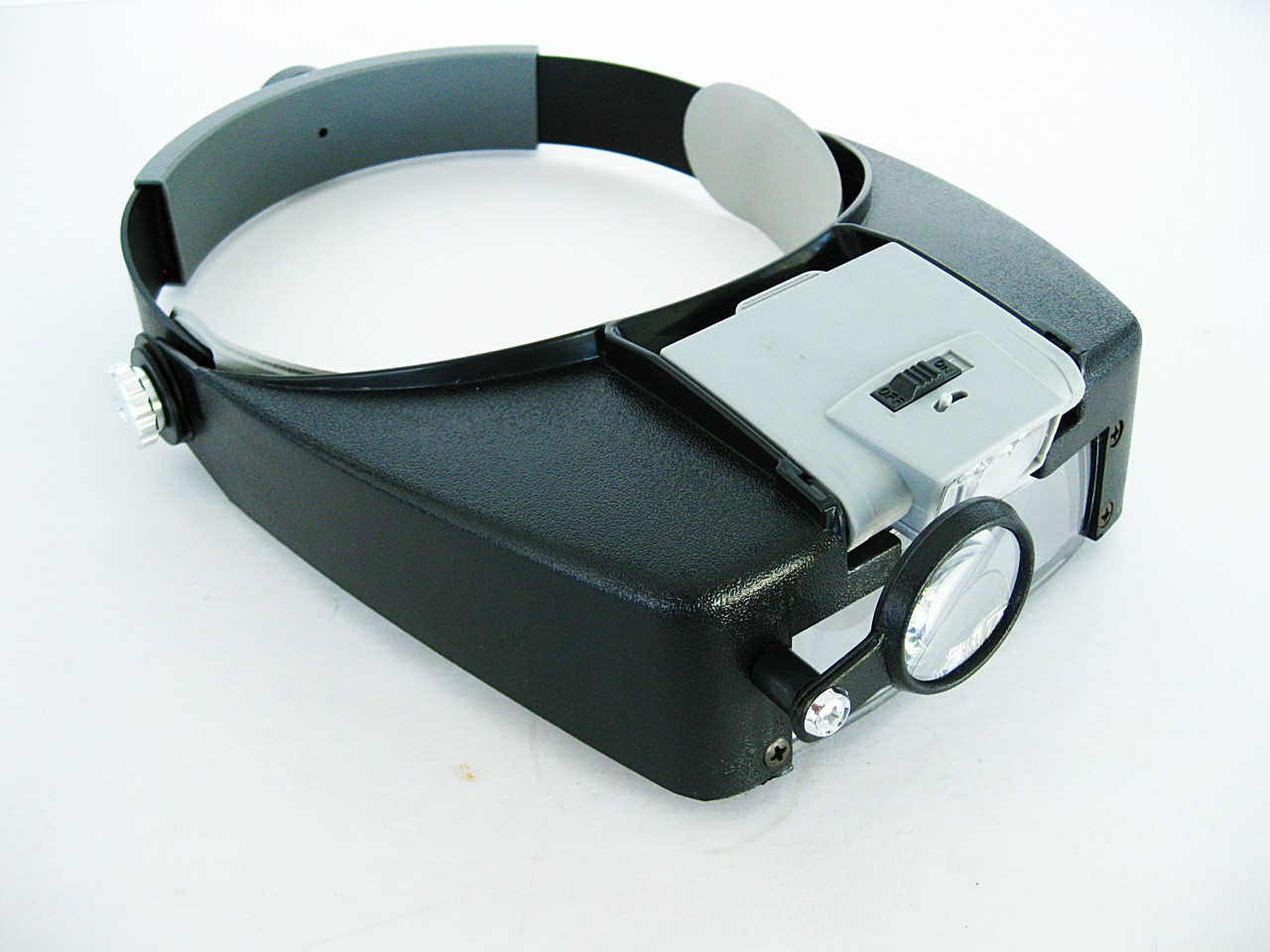 10.5X LIGHTED MAGNIFIER VISOR HEADSET Magnifying Glass